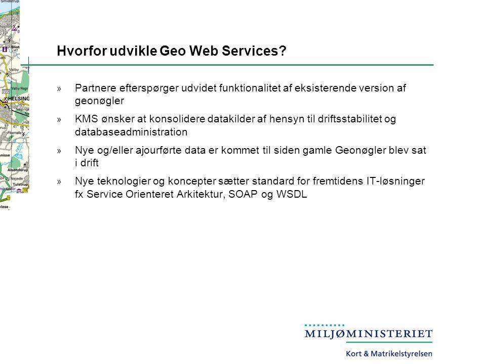Hvorfor udvikle Geo Web Services