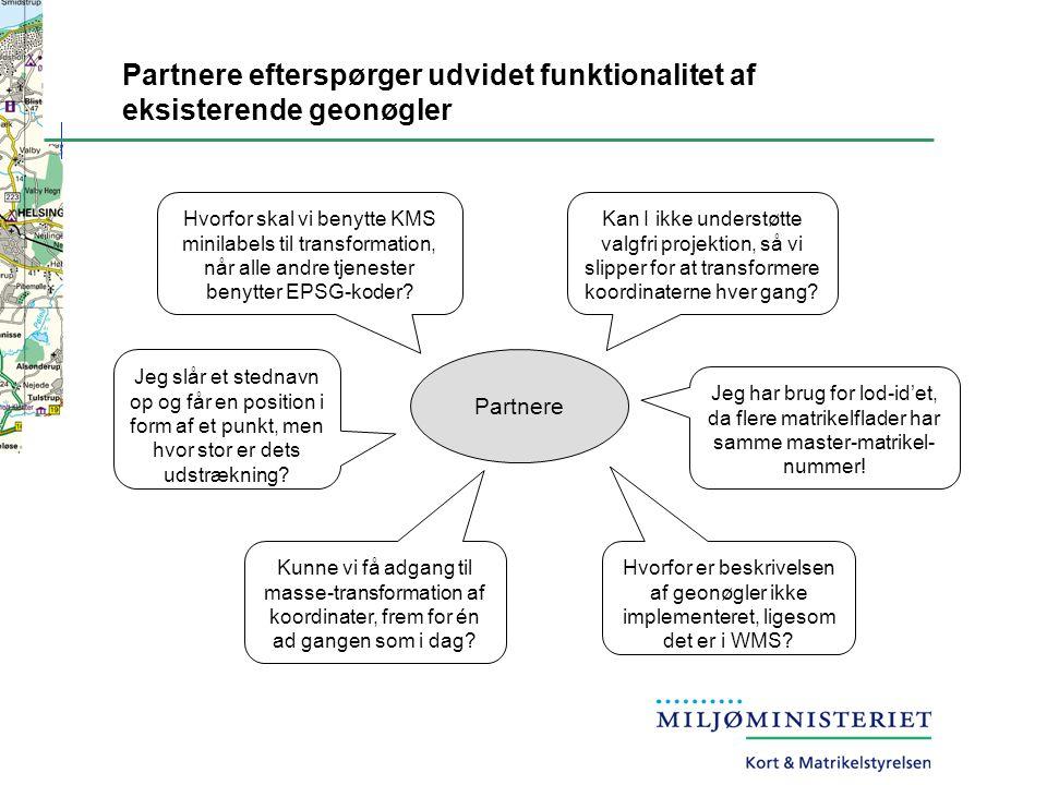 Partnere efterspørger udvidet funktionalitet af eksisterende geonøgler
