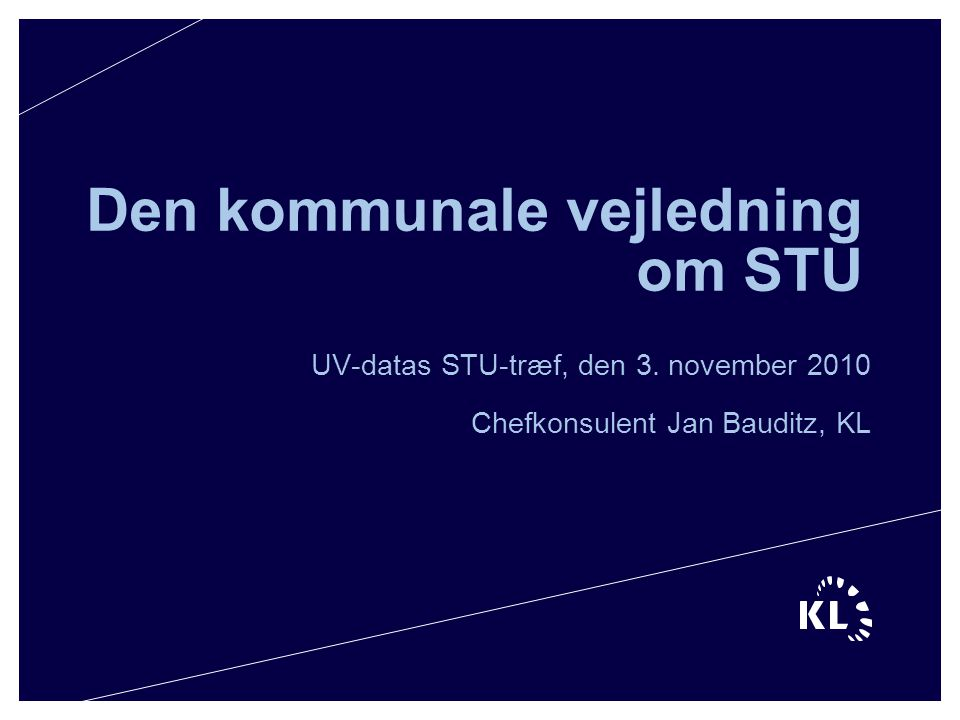 Den kommunale vejledning om STU