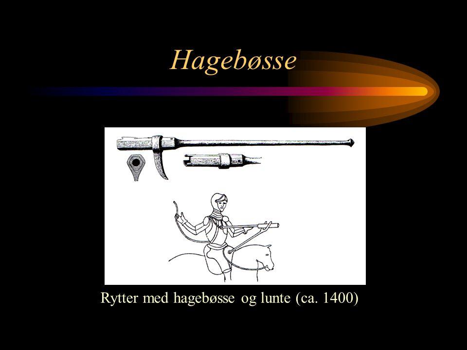 Rytter med hagebøsse og lunte (ca. 1400)