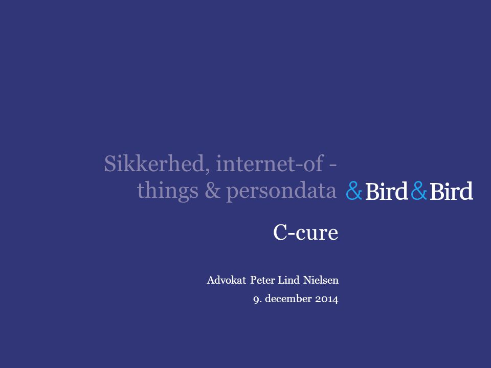 Sikkerhed, internet-of -things & persondata