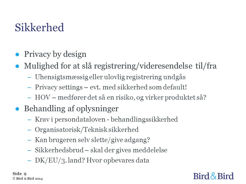 Sikkerhed Privacy by design