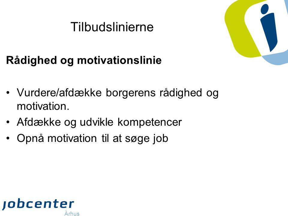 Tilbudslinierne Rådighed og motivationslinie