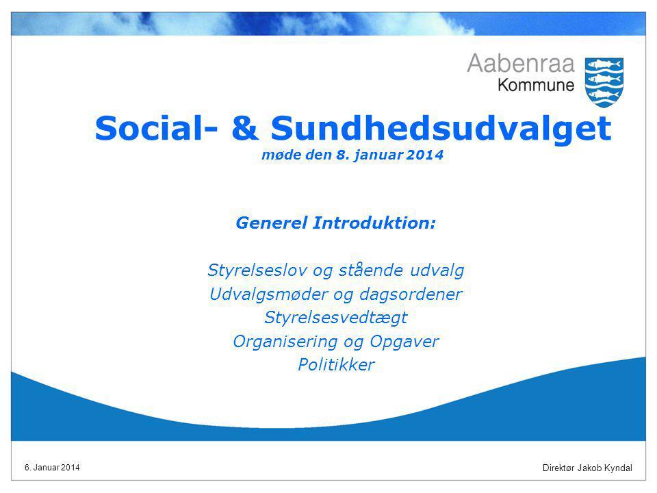Social- & Sundhedsudvalget møde den 8. januar 2014