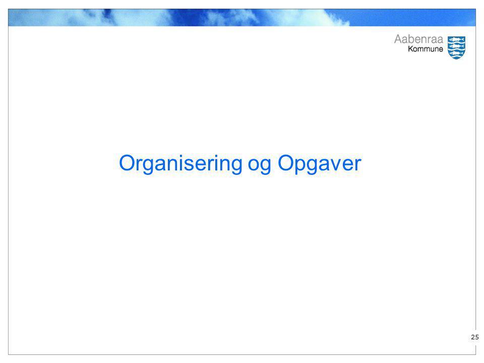 Organisering og Opgaver