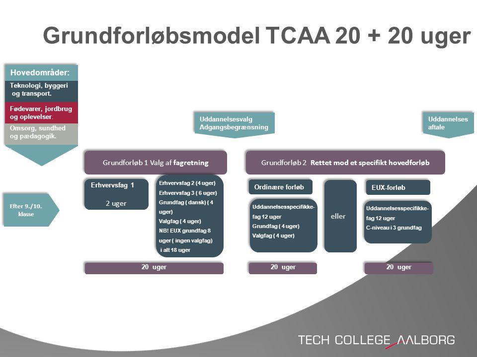 Grundforløbsmodel TCAA 20 + 20 uger