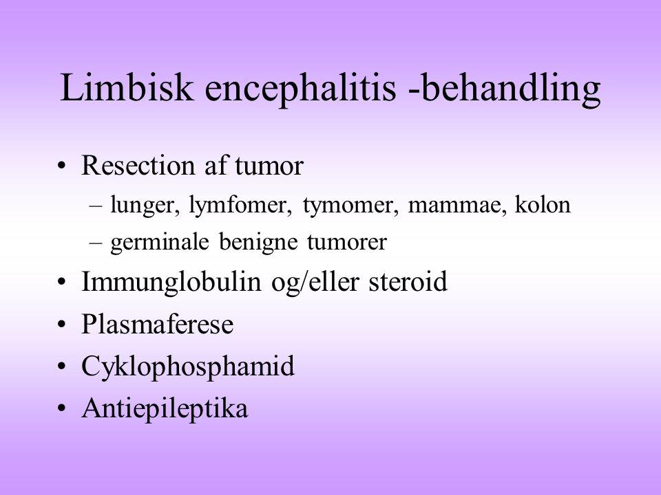 Limbisk encephalitis -behandling