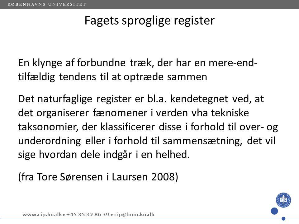 Fagets sproglige register