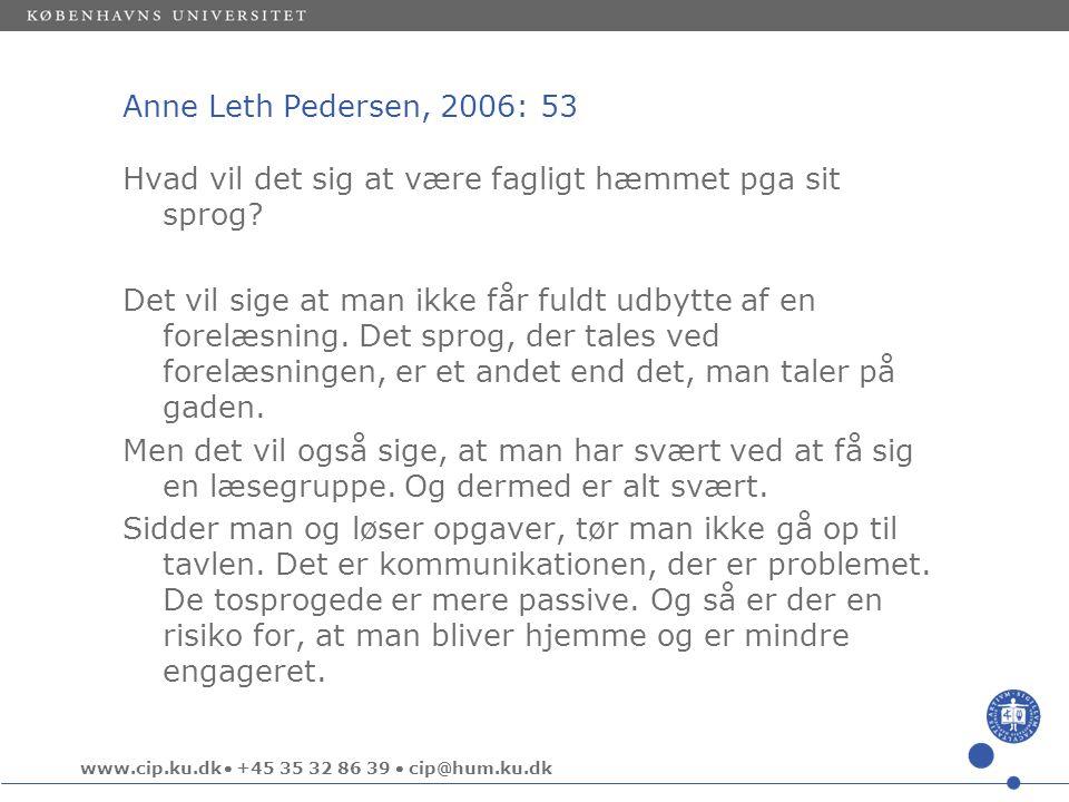 Anne Leth Pedersen, 2006: 53
