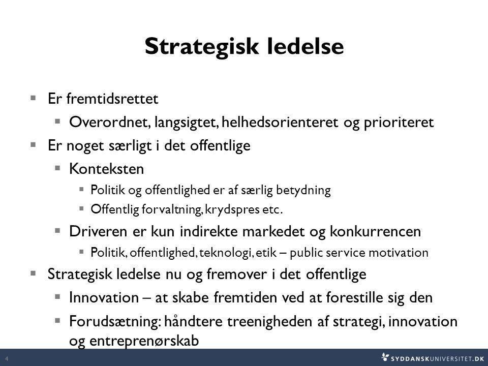Strategisk ledelse Er fremtidsrettet