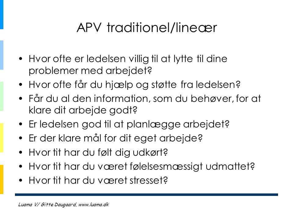 APV traditionel/lineær