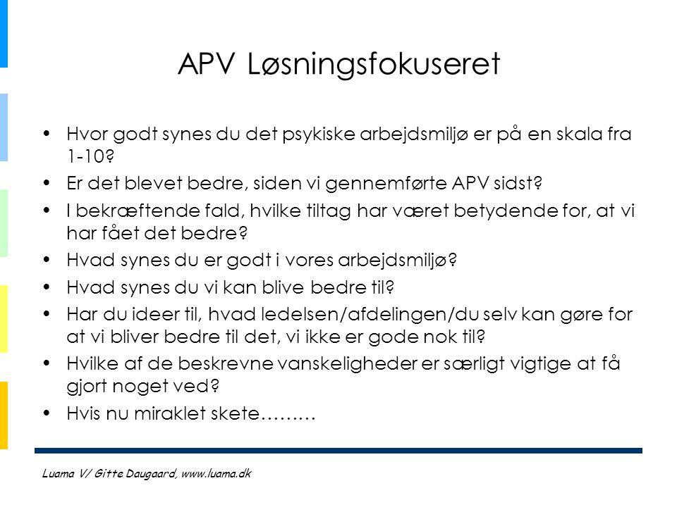 APV Løsningsfokuseret