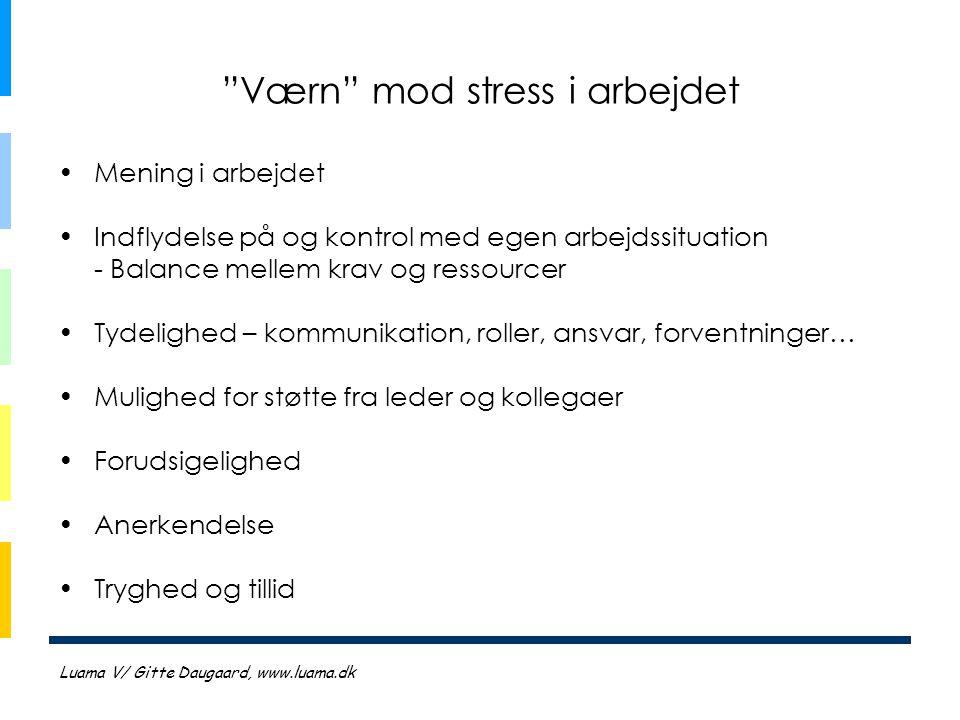 Værn mod stress i arbejdet