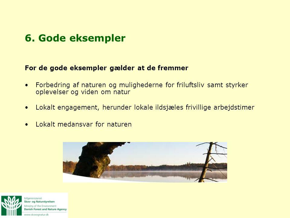 6. Gode eksempler For de gode eksempler gælder at de fremmer