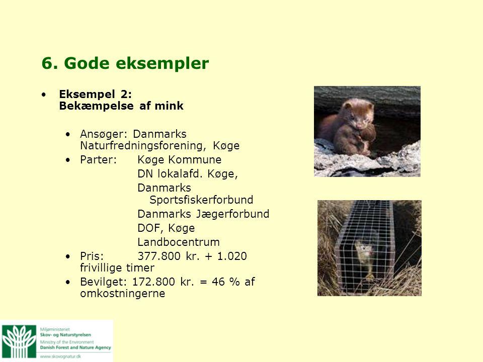 6. Gode eksempler Eksempel 2: Bekæmpelse af mink