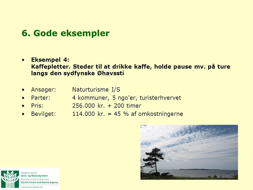 6. Gode eksempler Eksempel 4: Kaffepletter. Steder til at drikke kaffe, holde pause mv. på ture langs den sydfynske Øhavssti.