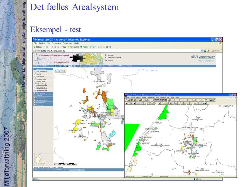 Det fælles Arealsystem Eksempel - test