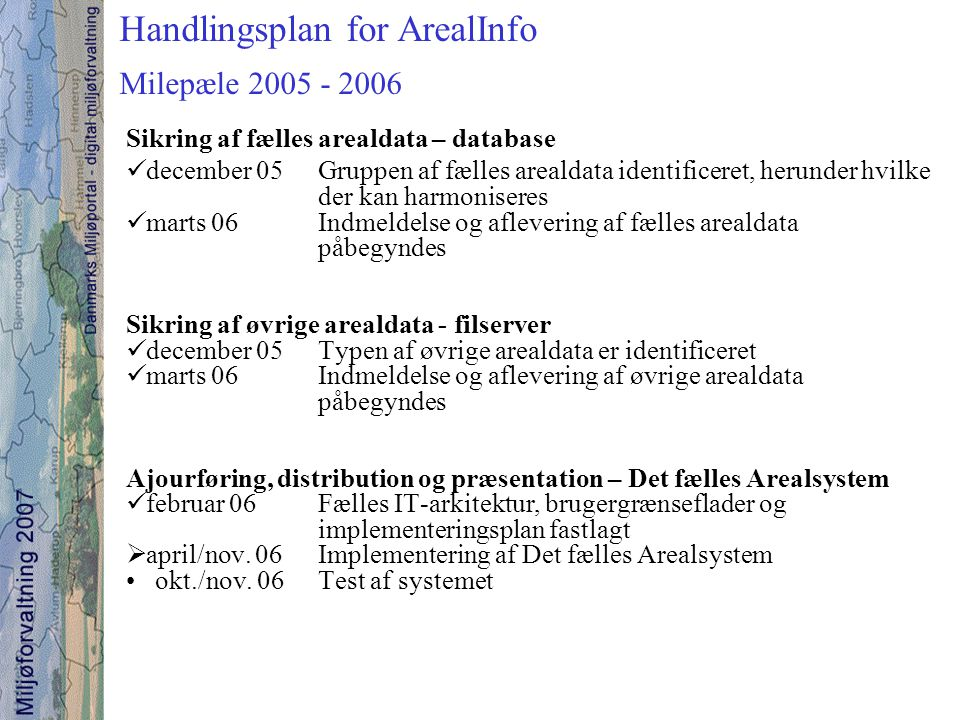 Handlingsplan for ArealInfo