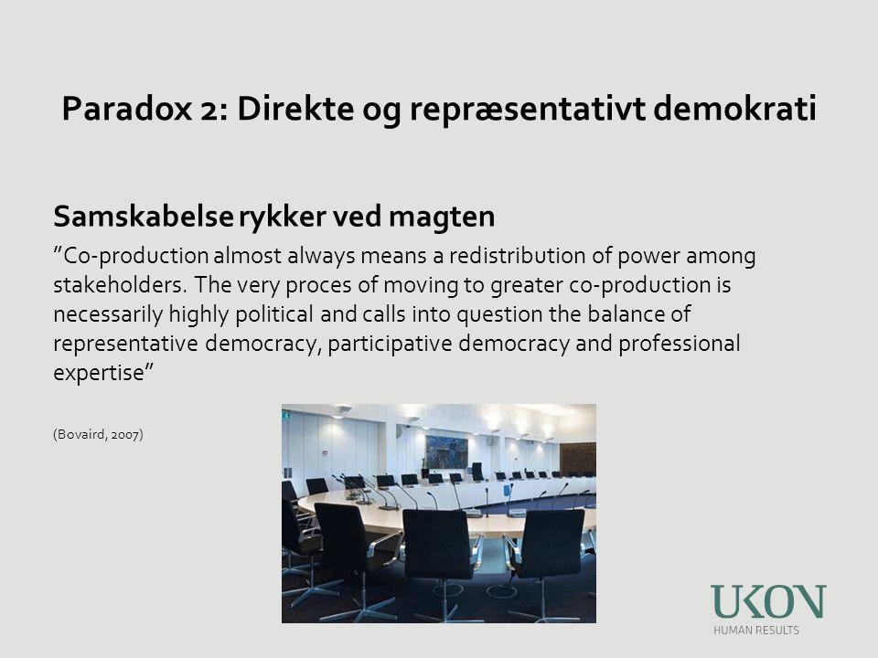 Paradox 2: Direkte og repræsentativt demokrati