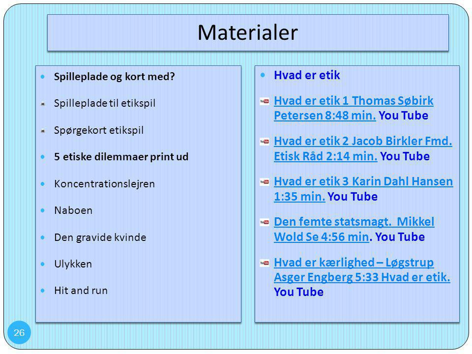 Materialer Hvad er etik
