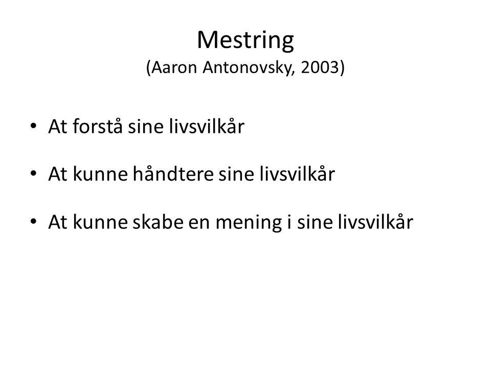 Mestring (Aaron Antonovsky, 2003)