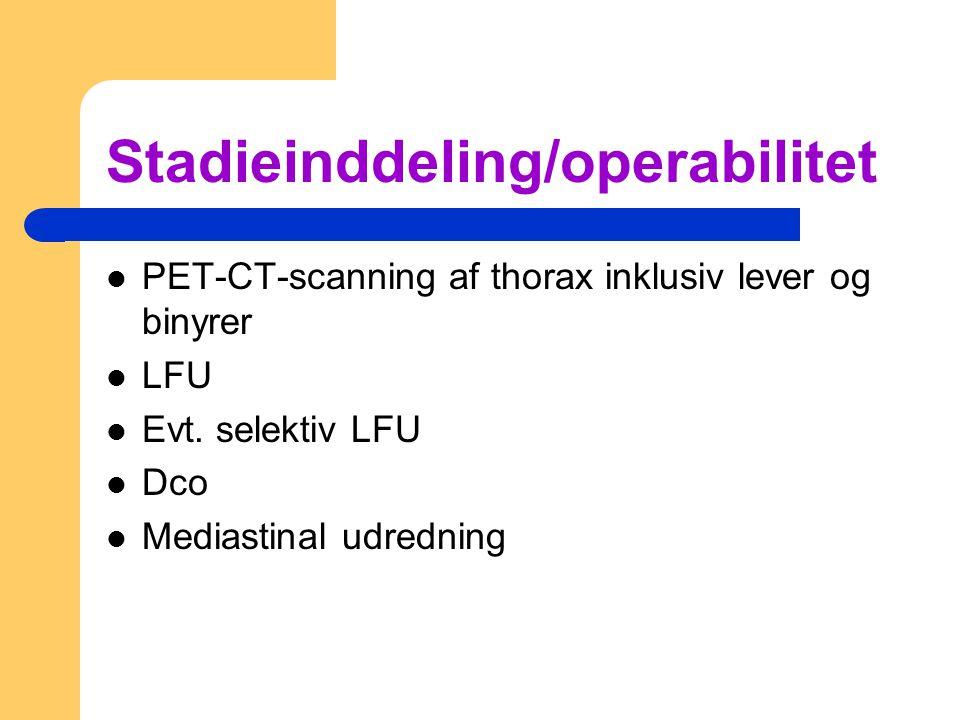 Stadieinddeling/operabilitet