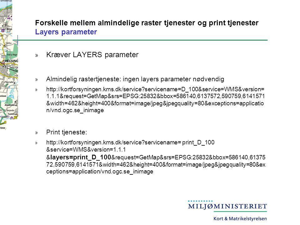 Kræver LAYERS parameter