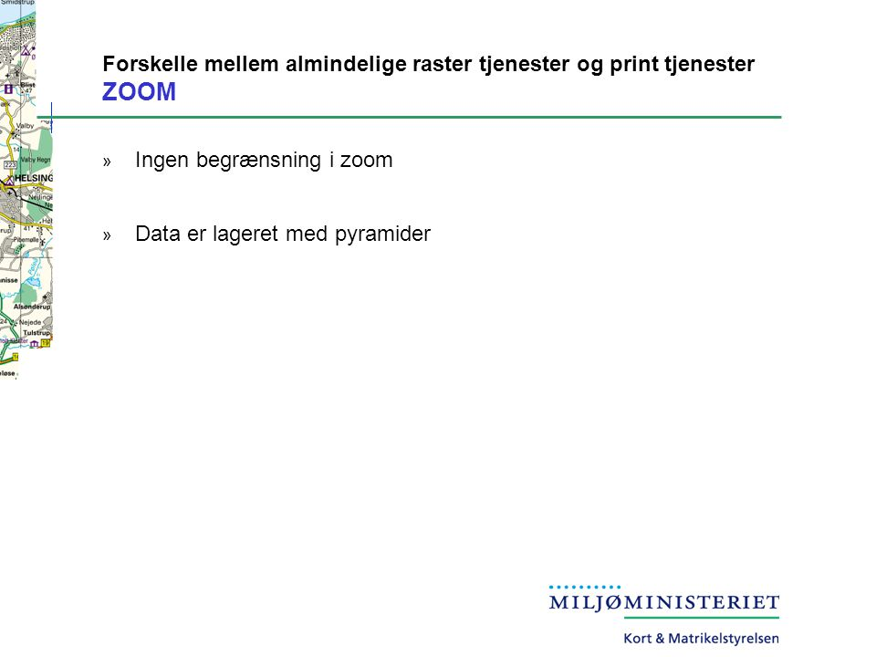 Forskelle mellem almindelige raster tjenester og print tjenester ZOOM