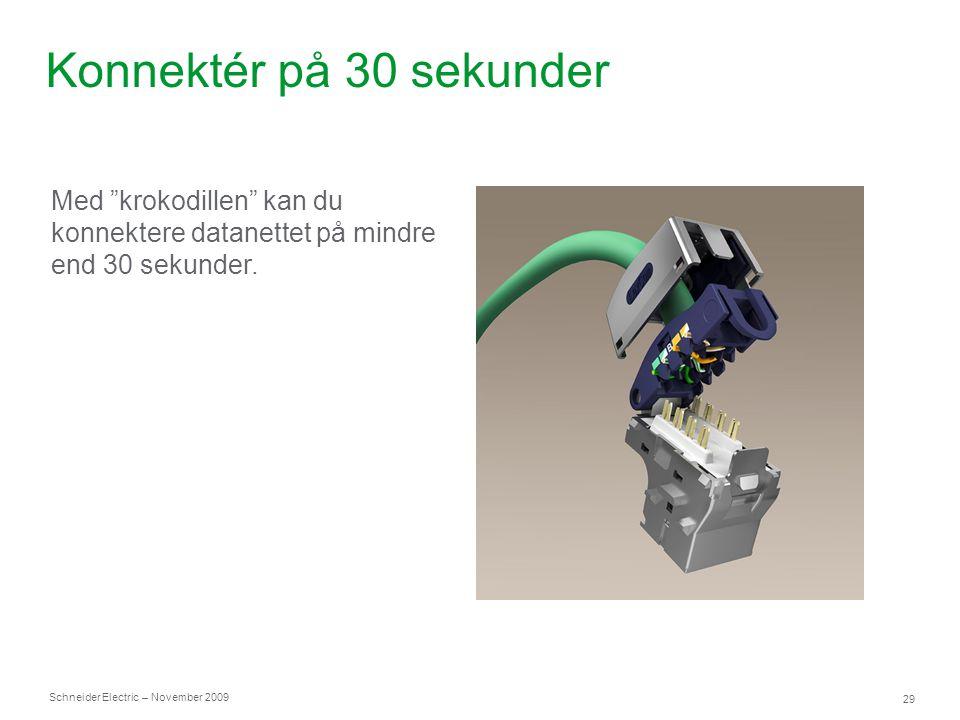 Konnektér på 30 sekunder Med krokodillen kan du konnektere datanettet på mindre end 30 sekunder.