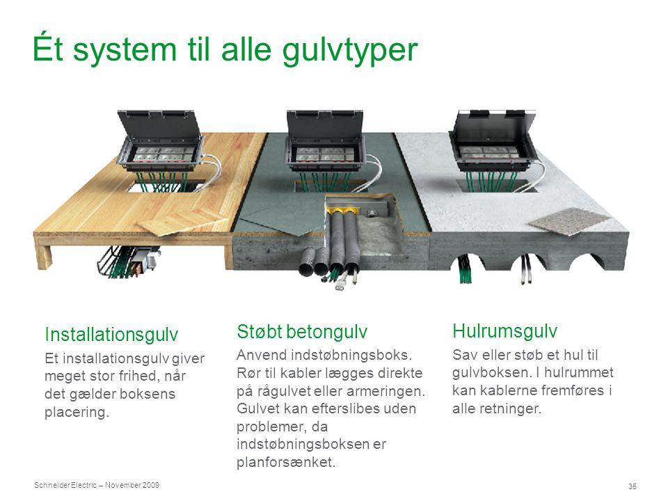 Ét system til alle gulvtyper