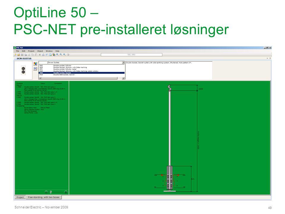 OptiLine 50 – PSC-NET pre-installeret løsninger