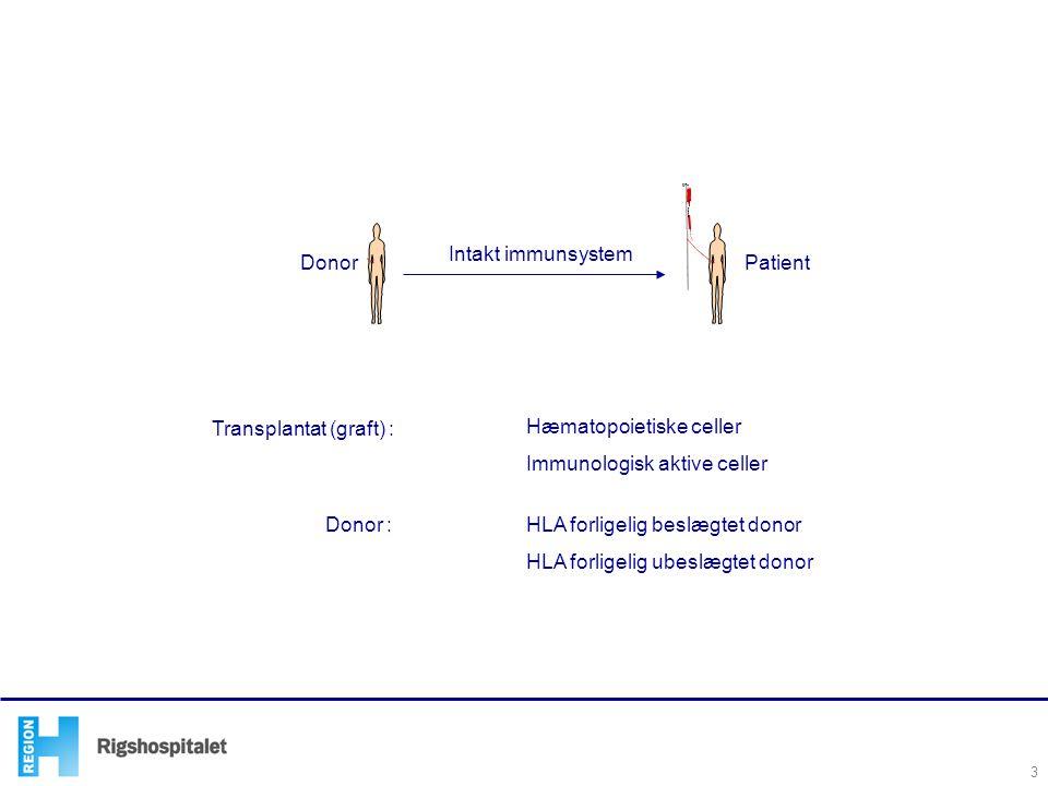 Transplantat (graft) : Hæmatopoietiske celler