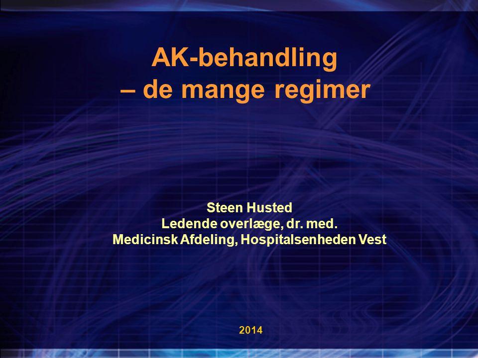 Ledende overlæge, dr. med. Medicinsk Afdeling, Hospitalsenheden Vest