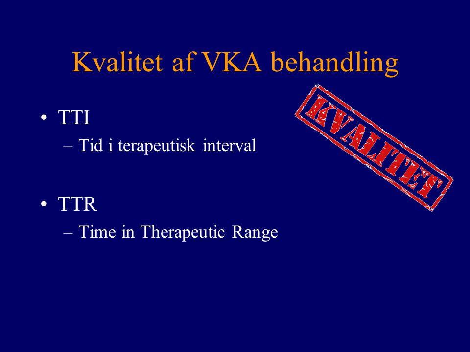 Kvalitet af VKA behandling