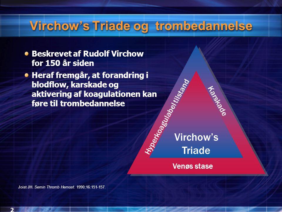 Virchow's Triade og trombedannelse