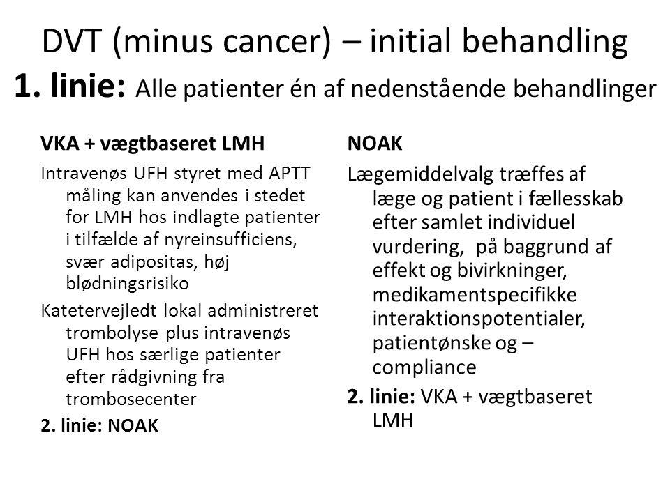 DVT (minus cancer) – initial behandling 1