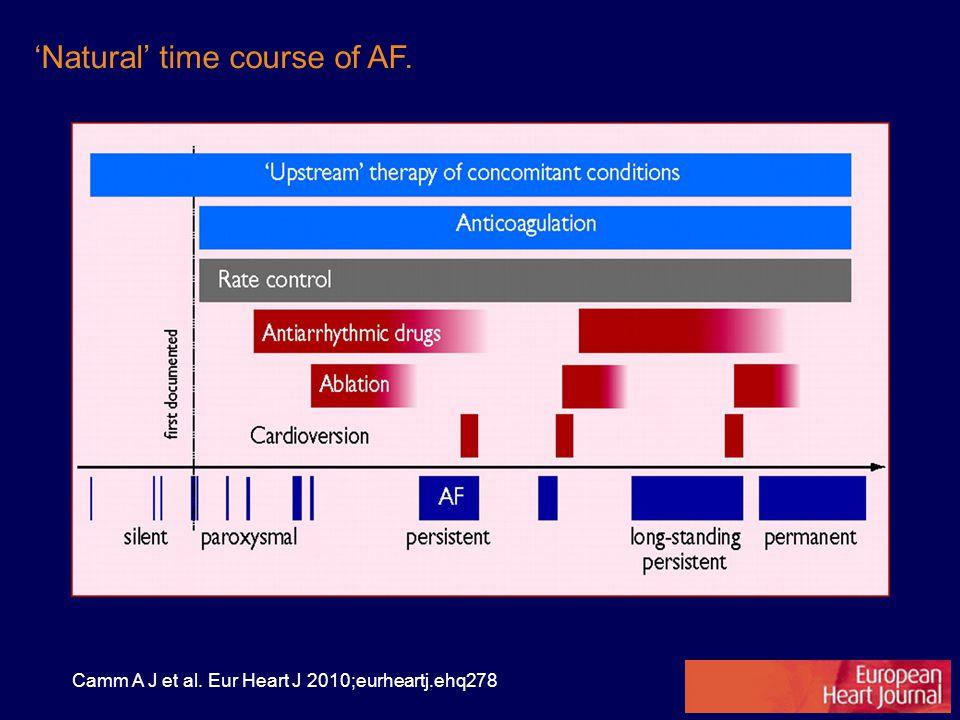 'Natural' time course of AF.