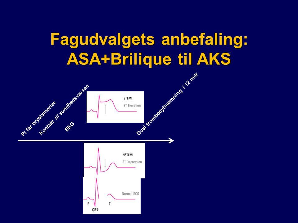 Fagudvalgets anbefaling: ASA+Brilique til AKS