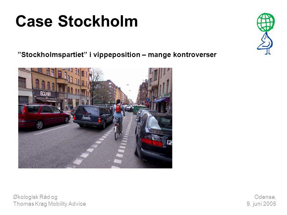 Case Stockholm Stockholmspartiet i vippeposition – mange kontroverser. Økologisk Råd og Thomas Krag Mobility Advice.