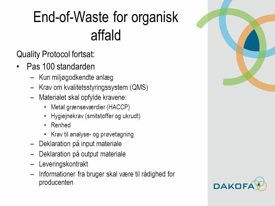 End-of-Waste for organisk affald