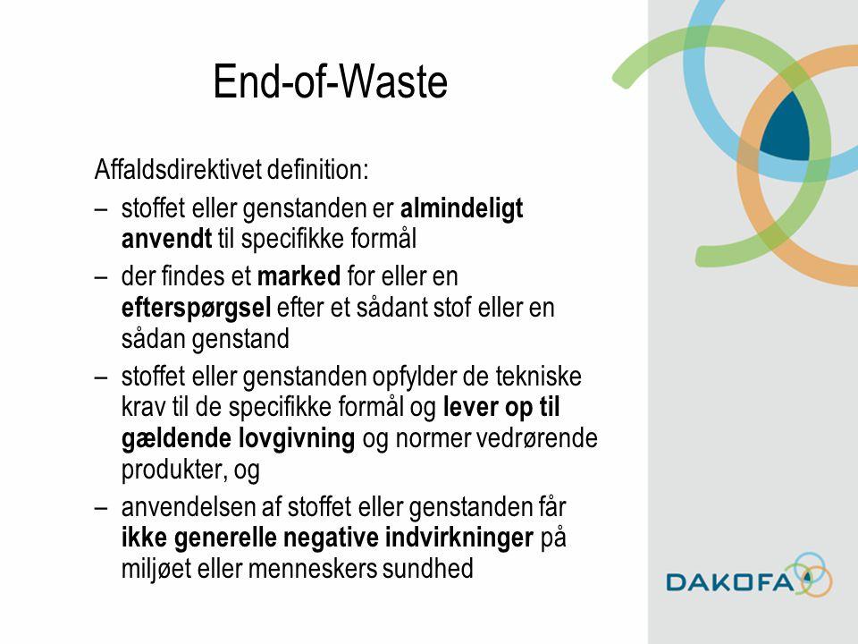 End-of-Waste Affaldsdirektivet definition: