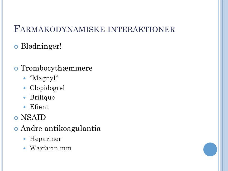 Farmakodynamiske interaktioner