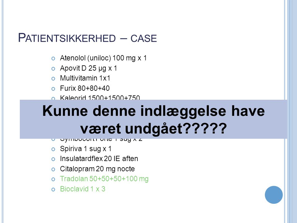 Patientsikkerhed – case