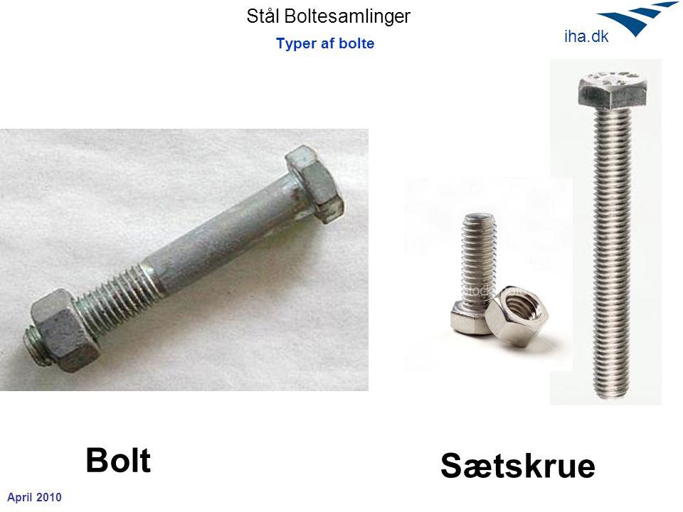Typer af bolte Bolt Sætskrue