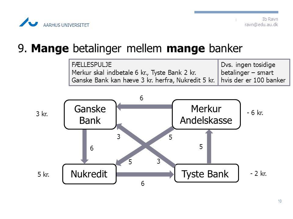 9. Mange betalinger mellem mange banker