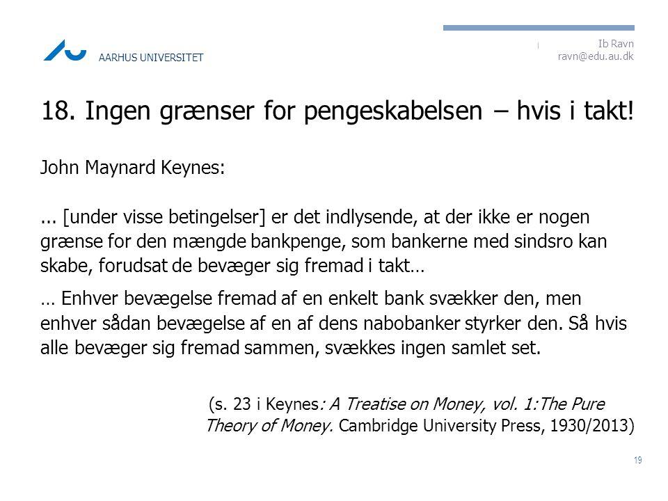 18. Ingen grænser for pengeskabelsen – hvis i takt!