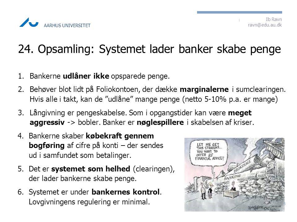 24. Opsamling: Systemet lader banker skabe penge