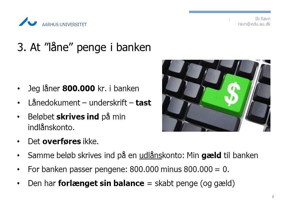 3. At låne penge i banken