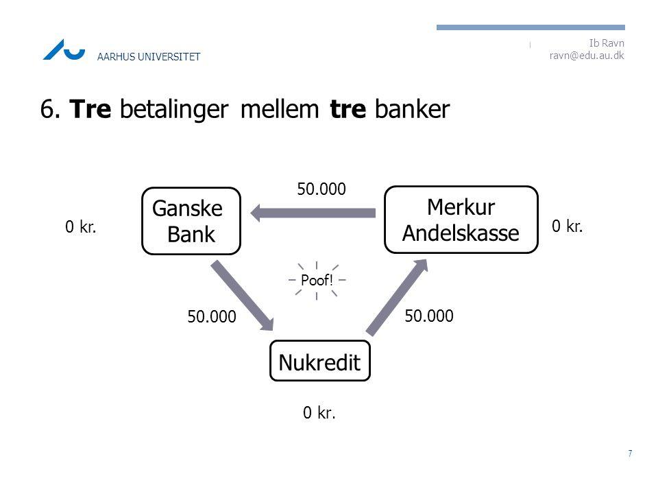 6. Tre betalinger mellem tre banker