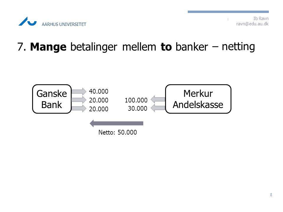 7. Mange betalinger mellem to banker